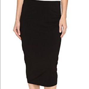 Vince Camuto Black Jersey Midi Tube Skirt - Size M